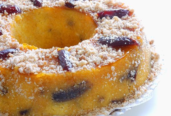 Torta de Coco com Tâmaras